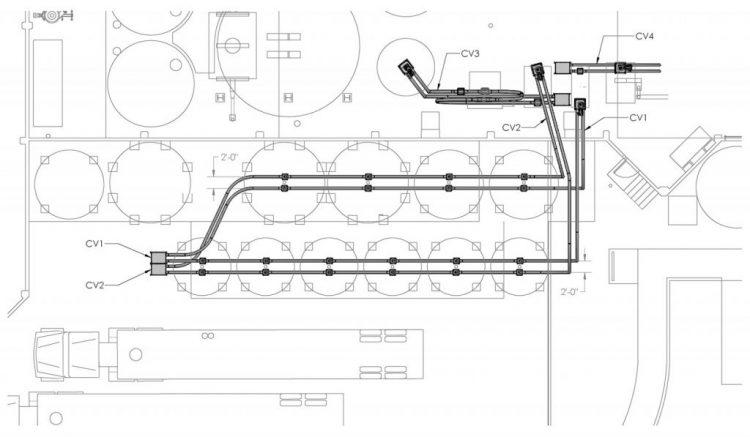 广东食品厂管链输送机使用案例插图